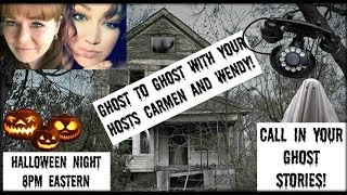 Ghost to Ghost show HALLOWEEN NIGHT SCARY ART BELL CLIP! Show will be on this channel. Cmarie