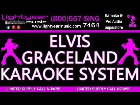 Elvis Presley Graceland Karaoke System With Karaoke Music 🎵 Lightyearmusic 🎵 Yamaha  4k video