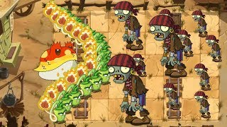 Toadstool and Wasabi Whip vs all Zombies - Plants vs Zombies 2