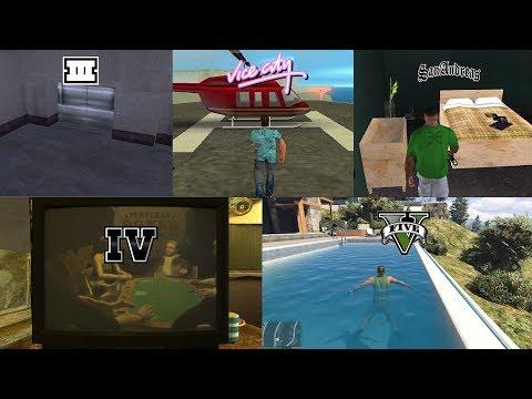 Evolution Of Safehouses In GTA Games! (GTA 3 Vs VC Vs SA Vs IV Vs V)