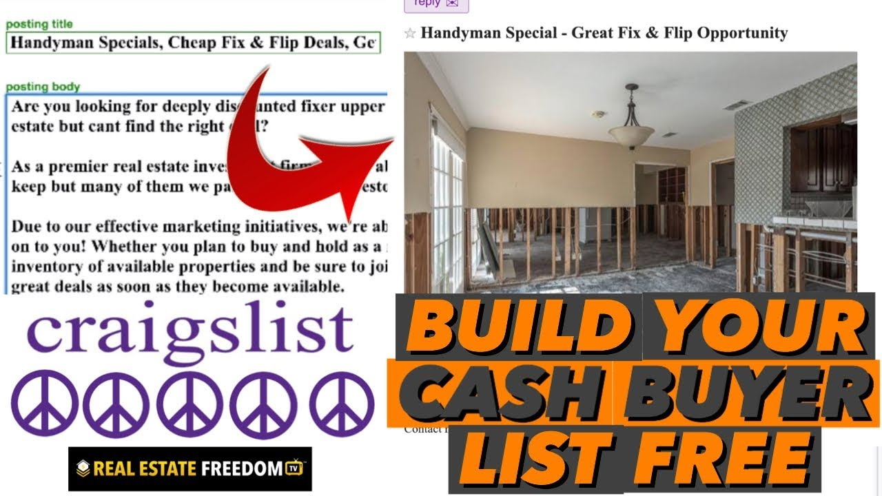 How to Post Free Ads on Craigslist to Build Your Cash Buyer List