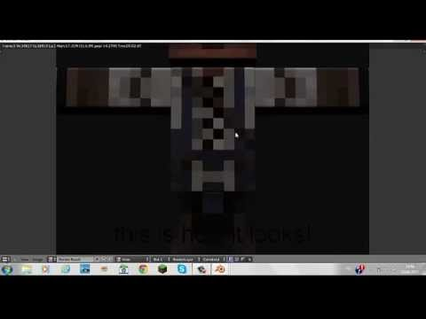 how to change minecraft skin with vmcomix rig or other rigs with blender