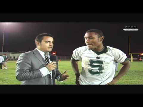 Costa Mesa Mustangs' Mario Smith post game following win over Cavaliers