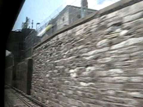 metro north train soutbound through sing sing prison