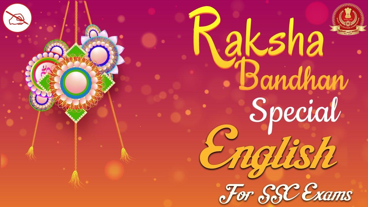 English   SSC Exams   Raksha Bandhan Special Lecture   By Hardik Mahendras