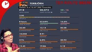 TOP 15 TORBJORN plays Reinhardt on Overwatch Competitive   Win Streak = 6 Twitchcon is Poo