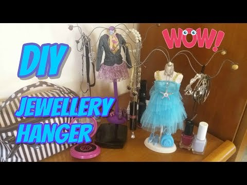 DIY Jewellery hanger without clay!! How to easily make your own jewellery hanger