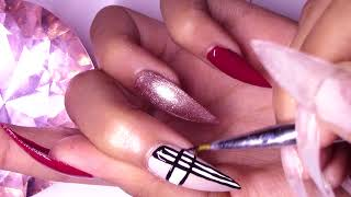 MODELONES review ~ D.I.Y Burberry Press-On Nails Tutorial