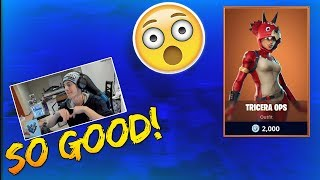 Ninja Reacts To the NEW TRICERA OPS SKIN - Fortnite Best & Funny Moments (Fortnite Battle Royale)