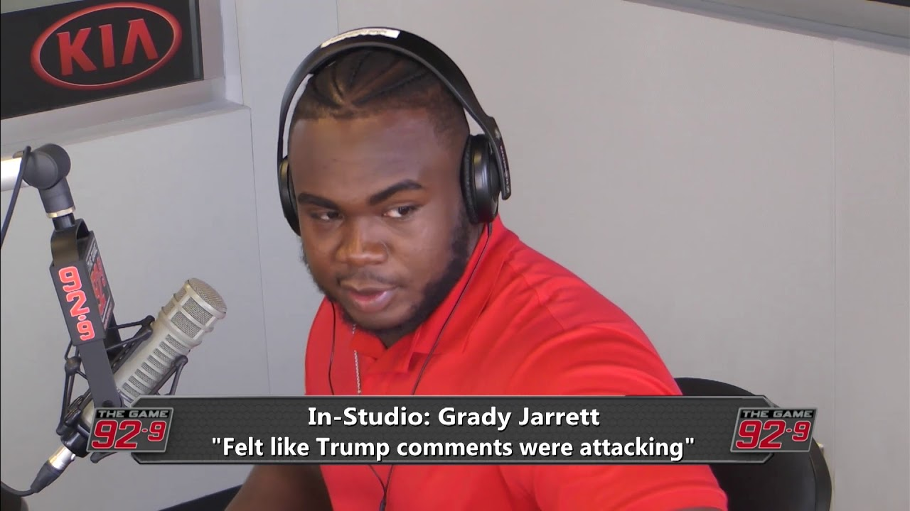 Grady Jarrett tells why he kneeled during the National Anthem