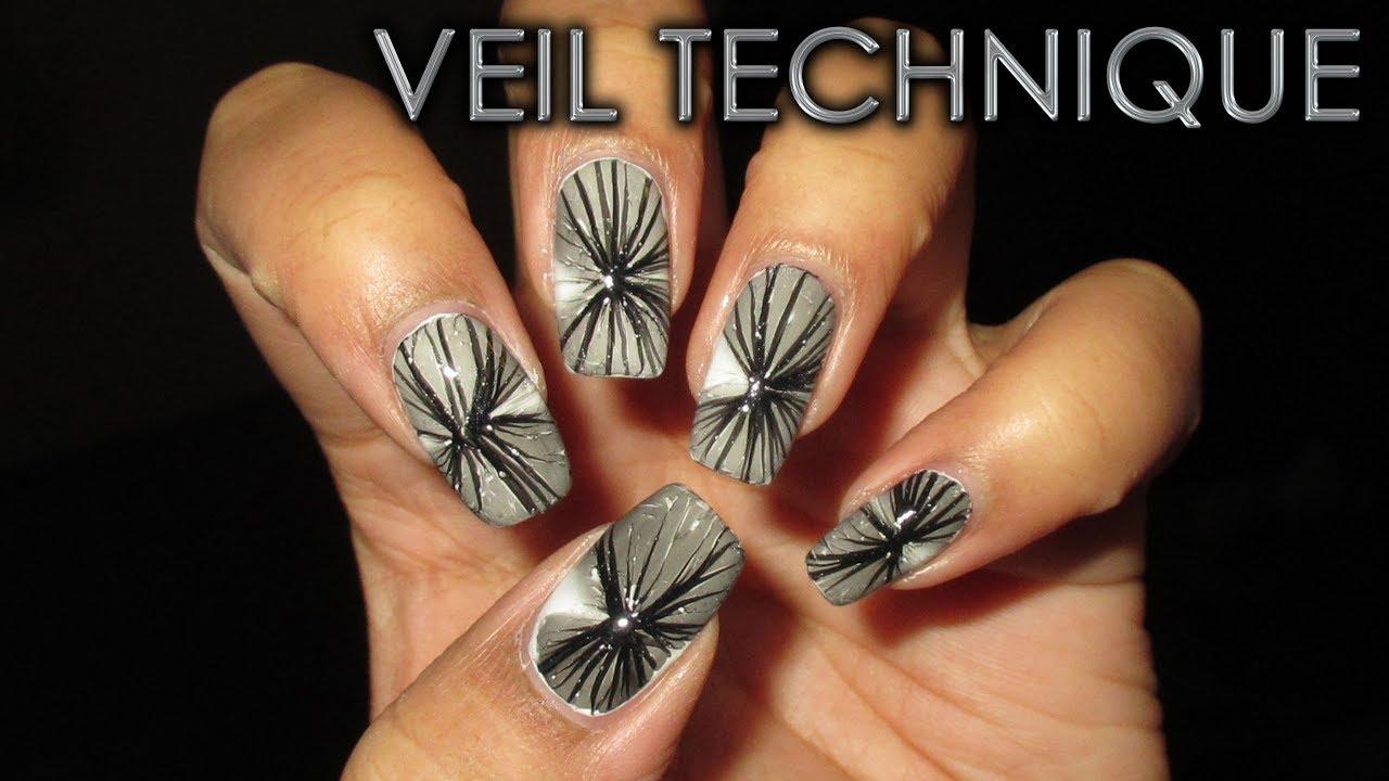 Veil Technique Water Marble March 2018 1 Diy Nail Art Tutorial