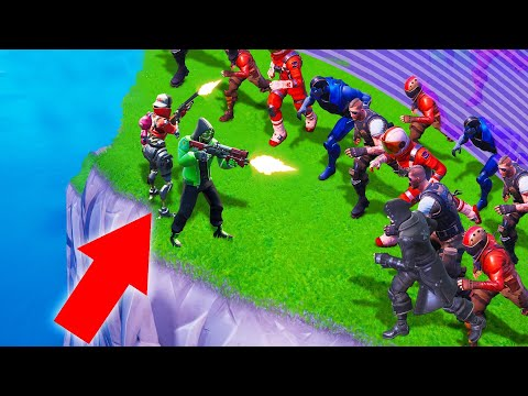 3 People vs. 100 ZOMBIES In FORTNITE! (Battle Royale)