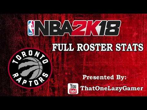 "NBA 2K18 ""Toronto Raptors"" Full Roster stats"