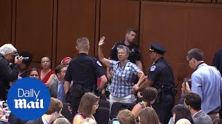 Protests continue on second day of Kavanaugh Senate hearing