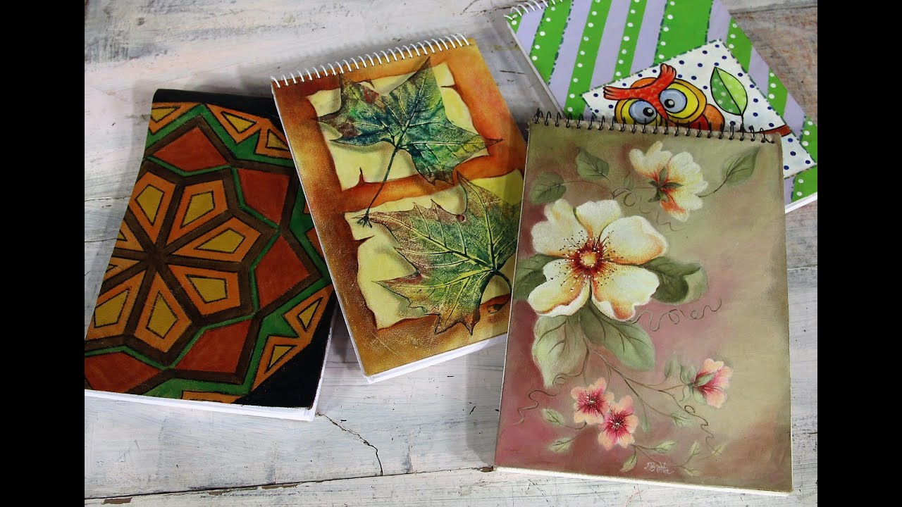 como decorar cuadernos pintar cuero pinturas para tela