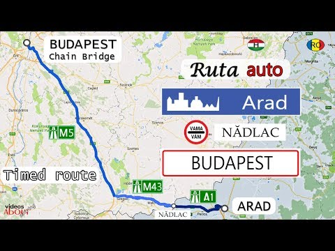 Timed auto route Arad (RO) - Budapest (HU) downtown Chain Bridge | Highway Route | Sony AS300