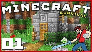 Minecraft survival | we begin again! || [s01e01] vanilla 1.12 lets play