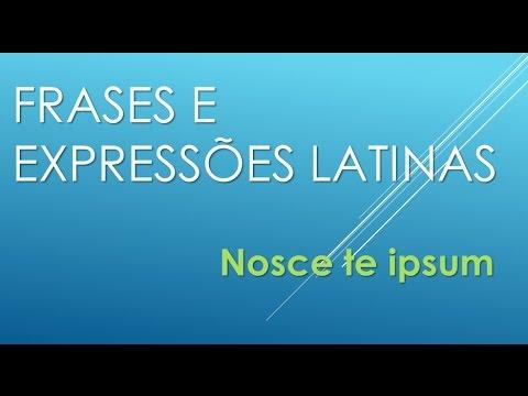 Fale Latim Expressões Latinas 01 Nosce Te Ipsum Youtube