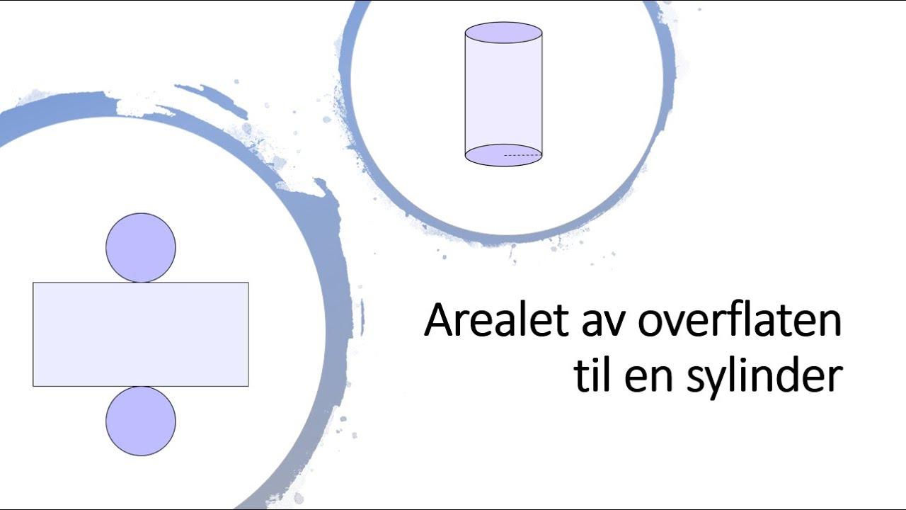 Arealet av overflaten til en sylinder