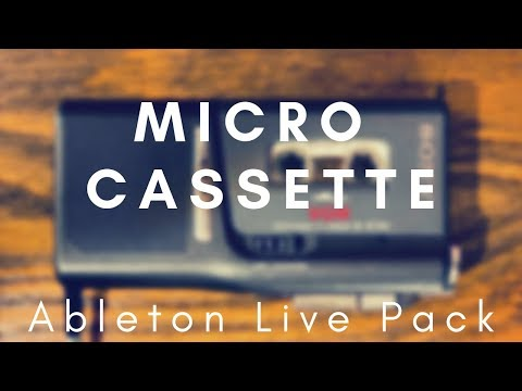 Micro Cassette Ableton Live Pack — Brian Funk