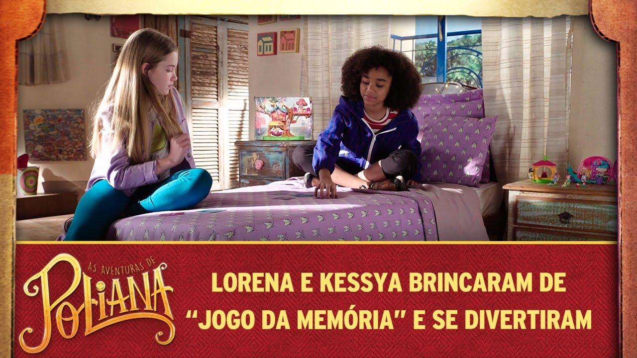 As Aventuras de Poliana | Lorena e Kessya brincam de Jogo da Memória
