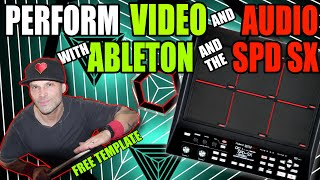 ABLETON VISUALS - Sync Video & Audio Using Ableton Live & Roland SPD SX | FREE ABLETON TEMPLATE
