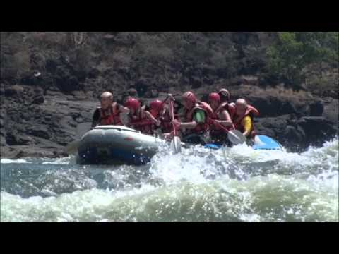 Grade 5 White Water Rafting Victoria Falls Zimbabwe on the Zambezi River Oasis Overland