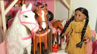 American Girl Doll House Tour - Our Generation OG Horses & Stables ~HD PLEASE WATCH IN HD~