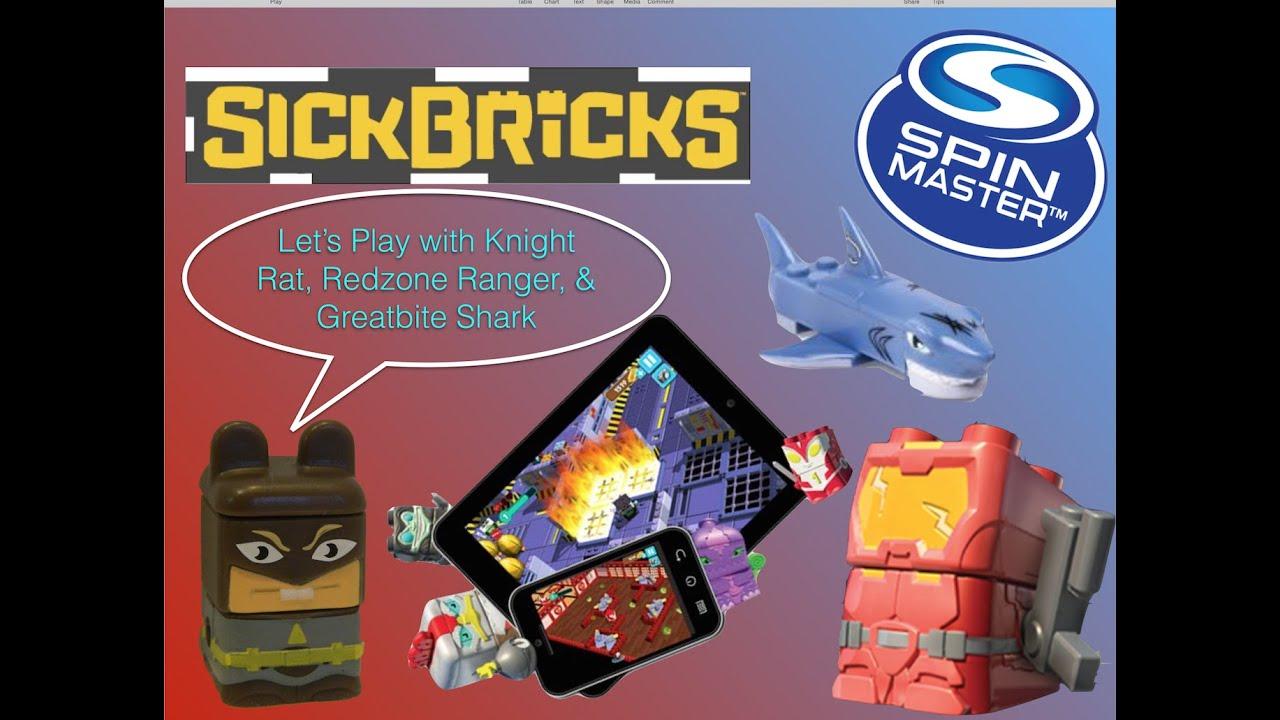 New spin master sick bricks let 39 s play knight rat for Shark tank fairy door
