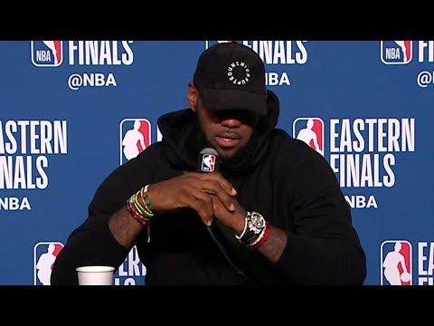 LeBron James Postgame Interview - Game 4   Celtics vs Cavaliers   2018 NBA East Finals