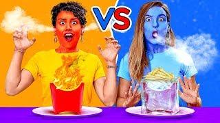 CHỈ ĂN ĐỒ ĂN NÓNG và ĐÔNG LẠNH TRONG 24 GIỜ! Thử Thách Ăn Đồ Ăn Bị Chỉ Định!