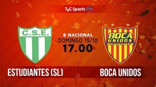 Sportivo Estudiantes vs Boca Unidos full match