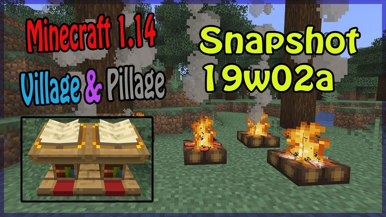 Minecraft Kartentisch Rezept.Lagerfeuer Lesepult Kartentisch Minecraft Snapshot 19w02a 1 14 Update