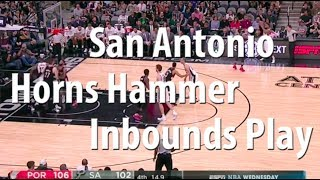 San Antonio Spurs Hammer Horns Sideline Inbounds Play | Basketball Sideline Inbounds Play