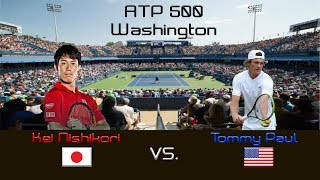 Video Kei NISHIKORI (JPN) vs. Tommy PAUL (USA) - Highlights - ATP 500 Washington - Quarterfinal download MP3, 3GP, MP4, WEBM, AVI, FLV Januari 2018