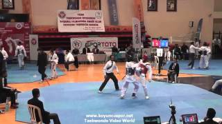 (4039)  68kg Ankara vs Bursa (2016 Turkish Junior TKD championships)