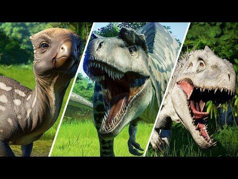 ALL 66 DINOSAURS - Jurassic World Evolution