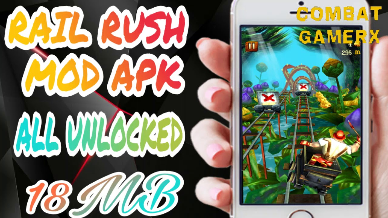 RAIL RUSH NEW GAME MOD APK || ALL LEVELS UNLOCKED ||999999 passes||
