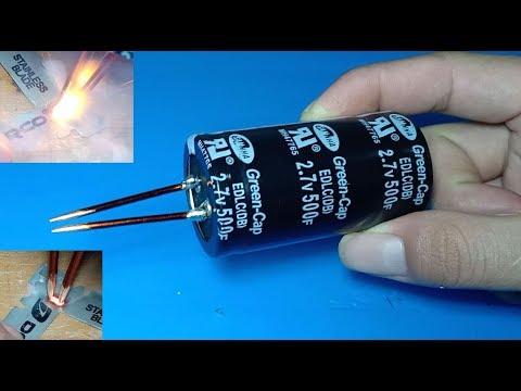 Spot welder using 500Farad super capacitor , Ultra capacitor as spot welder