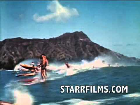 Duke Kahanamoku Surfing 1939 COLOR Stand Up Paddleboard SUP