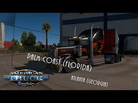 American Truck Simulator Palm Coast to Atlanta Coast to Coast Map
