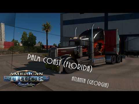 American Truck Simulator Palm Coast to Atlanta Coast to Coast Map