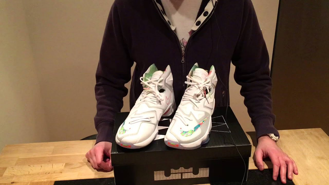 21dc6a541759 Unboxing   Nike LeBron 13 Easter - YouTube