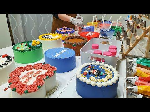 How to Make a Lettering Cake - Korean Food [ASMR]