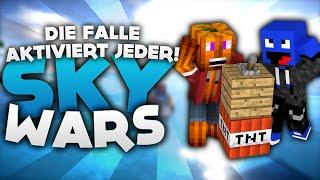 Die FALLE aktiviert JEDER! - Minecraft Sky Wars! | DieBuddiesZocken