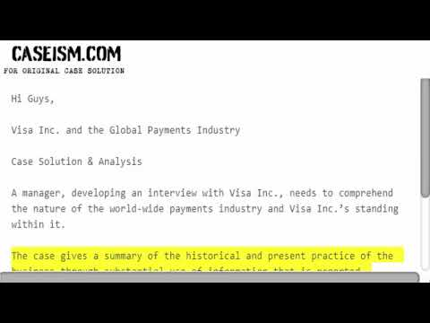 Visa Inc. and the Global Payments Industry  Case Solution & Analysis Caseism.com