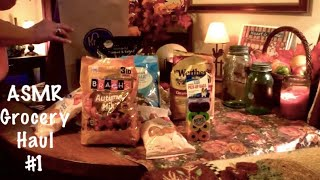 Asmr Grocery Haul 1. Very Crinkly Packages And Paper Bags.   (no Talking)
