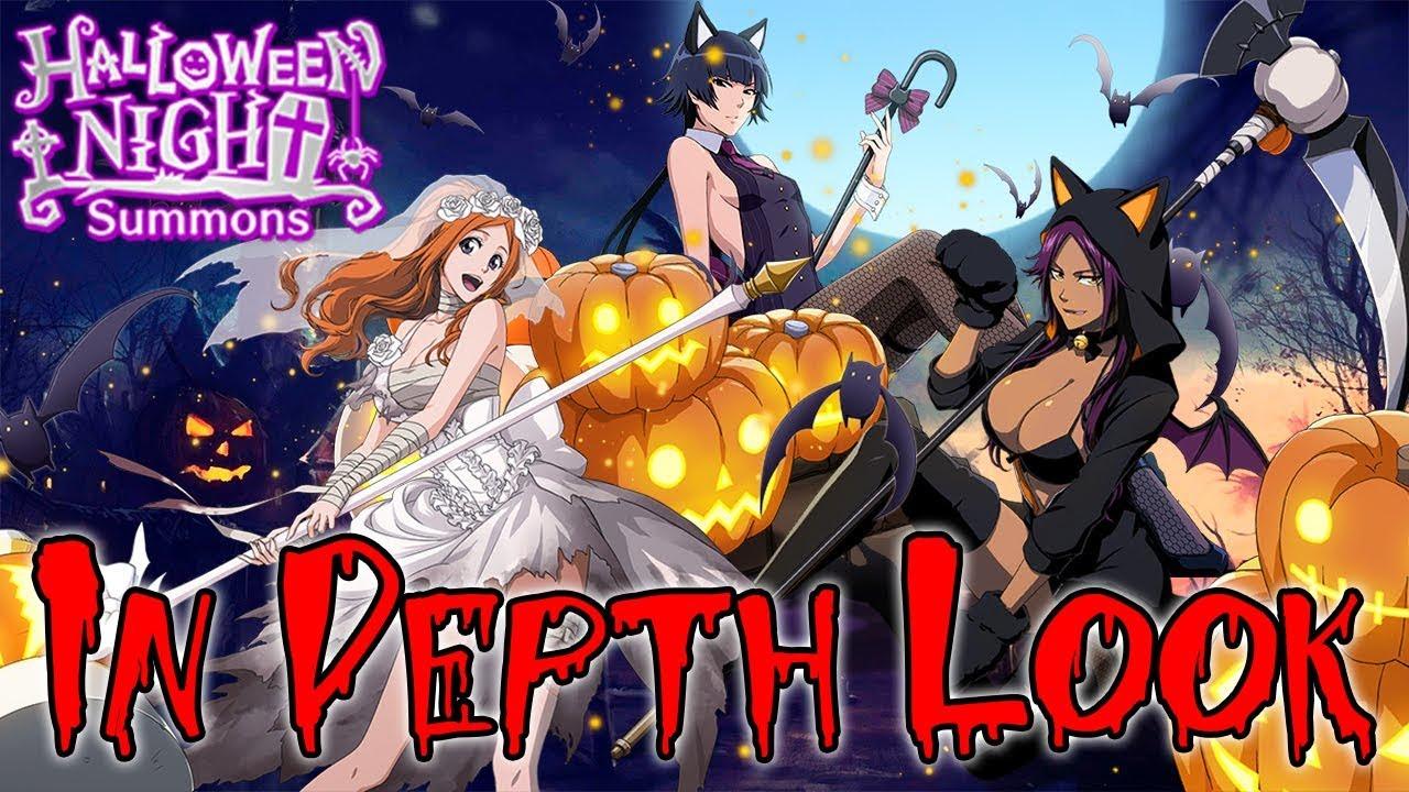 Bleach Brave Souls Halloween 2020 Bleach Brave Souls A Closer Look at Halloween Night Summons   YouTube