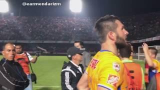 [Tigres vs Veracruz] pelea completa bronca entre porras en las tribunas Tuca Ferreti y Ginac
