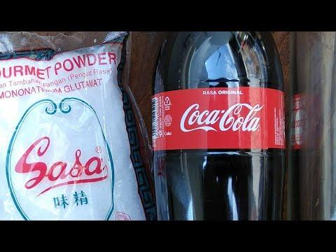Ketika Micin di Campur Coca Cola begini jadinya